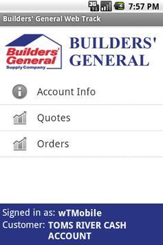 Builders' General Web Track apk screenshot