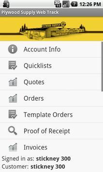 Plywood Supply Web Track apk screenshot