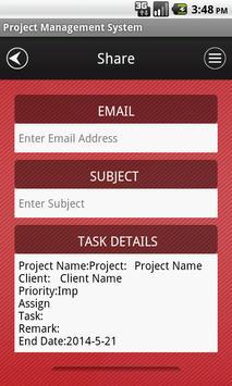Project Management System apk screenshot