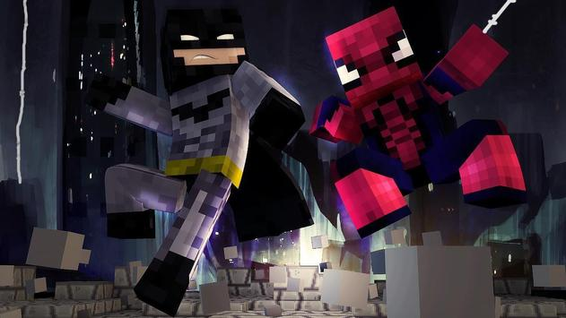 Superhero Skins for Minecraft poster