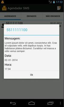 Agendador de SMS apk screenshot