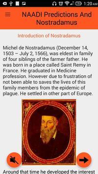 NAADI Prediction & Nostradamus poster