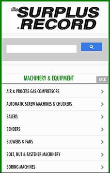 Surplus Record Used Machinery apk screenshot