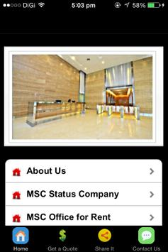 MSC Office Malaysia poster