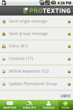 ProTexting - SMS Marketing apk screenshot