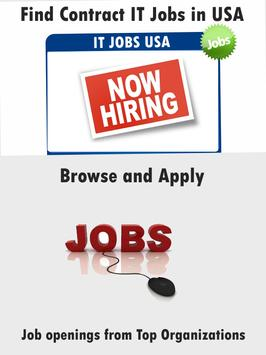 USA IT Contract Jobs Apply poster