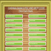 Chennai Banks IFSC Codes List icon