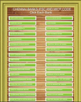 Chennai Banks IFSC Codes List apk screenshot