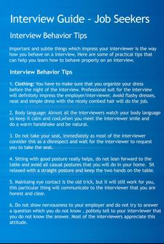 Interview Guide Job Seekers poster