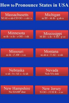 Pronounce States in USA Audio apk screenshot