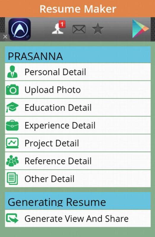 free resume maker app poster