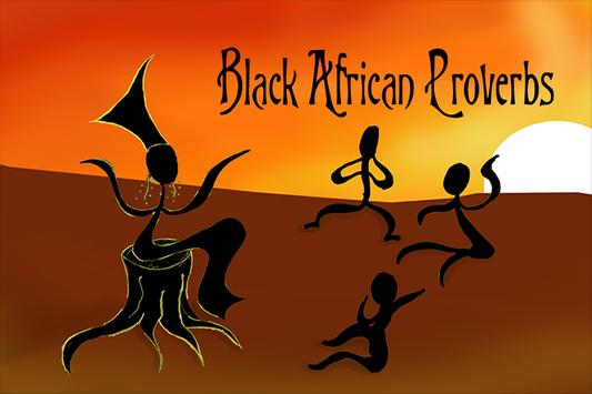 Black African Proverbs poster