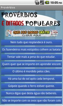Provérbios e Ditados Populares poster