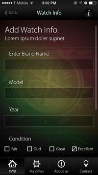 Preowned Watch Buyers apk screenshot