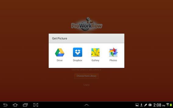 PWF Uploader apk screenshot