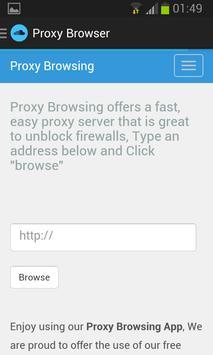 Proxy Browser apk screenshot