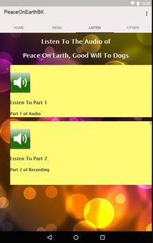 Peace On Earth Audio & eBooK apk screenshot