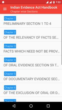 Indian Evidence Act Handbook apk screenshot