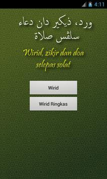 Wirid dan Doa Selepas Solat poster