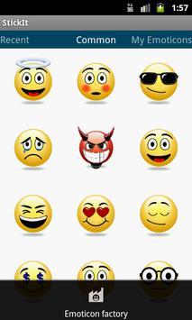StickIt Emoticons apk screenshot