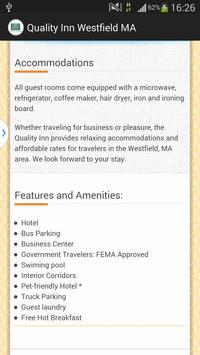 Quality Inn Westfield MA apk screenshot