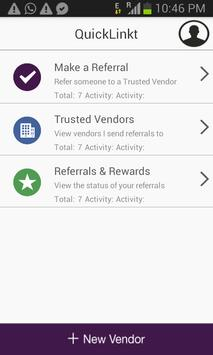 QuickLinkt Referral App apk screenshot