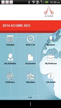 ACGME AEC 2014 apk screenshot