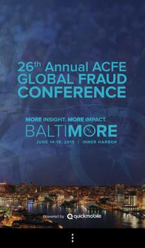 2015 ACFE Fraud Conference poster