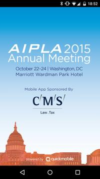 AIPLA 2015 Annual Meeting poster