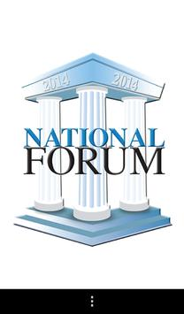 National Forum 2014 poster