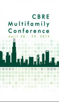 CBRE Multifamily Conference poster