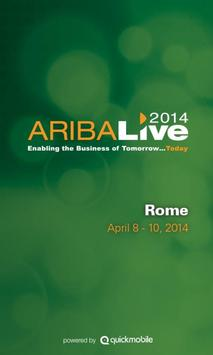 Ariba LIVE 2014 Rome poster