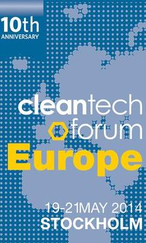 Cleantech Forum Europe 2014 poster