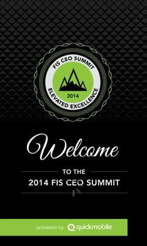 FIS CEO Summit poster