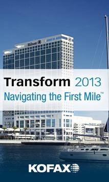 Kofax Transform 2013 poster