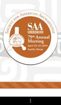 SAA 79th Annual Meeting poster