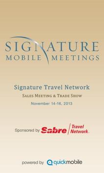 Signature Sales Meeting 2013 poster