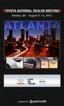 Toyota National Dealer Meeting poster