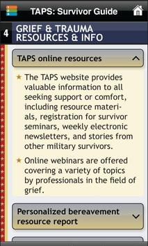 TAPS - Tragedy Assistance apk screenshot