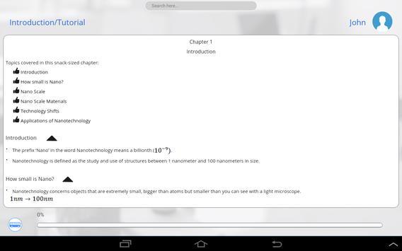 Learn Nanotechnology apk screenshot