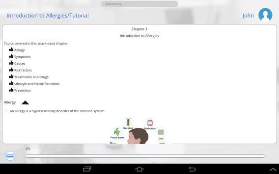 Allergies 101 by GoLearningBus apk screenshot