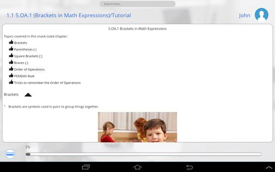 5th Grade Common Core Math apk screenshot