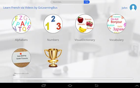 Learn French via Videos apk screenshot