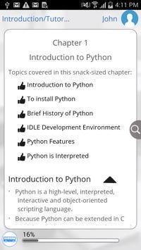Learn Python by GoLearningBus apk screenshot