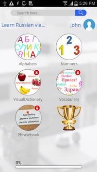 Learn Russian via Videos apk screenshot