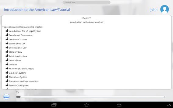 Learn US Law by GoLearningBus apk screenshot