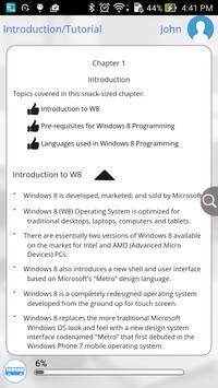 Learn Windows 8 Programming apk screenshot