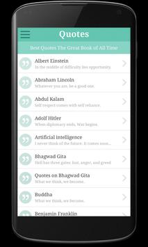 Quotes all time great Sayings apk screenshot