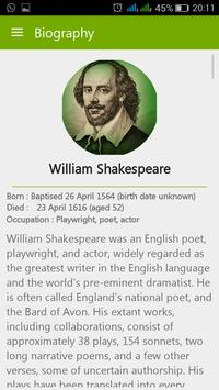 William Shakespeare Quotes apk screenshot