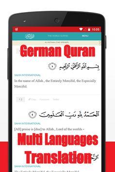 Quran mp3 german translation apk screenshot